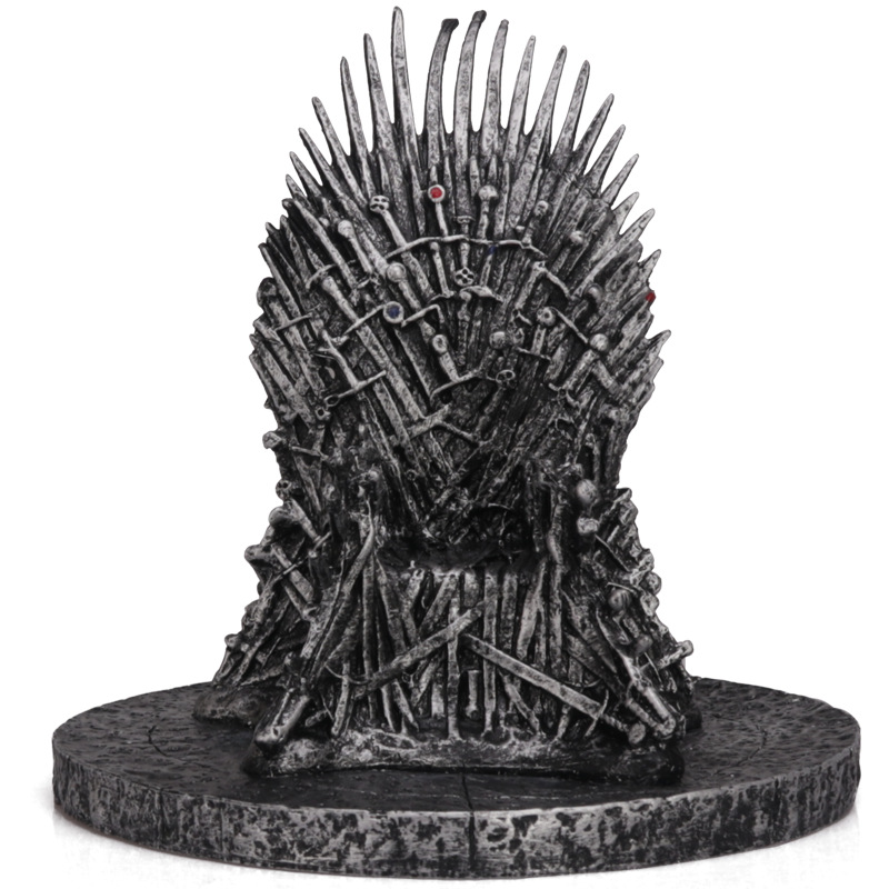 Game of thrones iron throne action figure model chair swords song ice and fire
