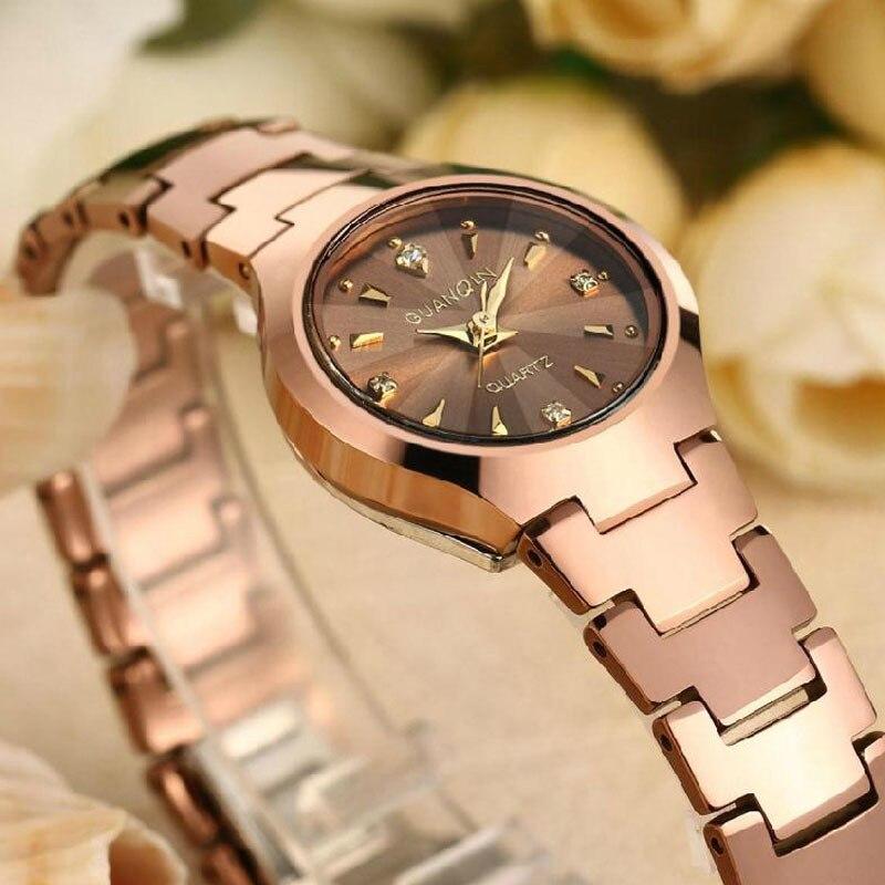 2018 GUANQIN Дамская мода кварцевые часы Для женщин брендовые Роскошные Для женщин часы Вольфрам Сталь Водонепроницаемый relogio feminino дропшиппинг