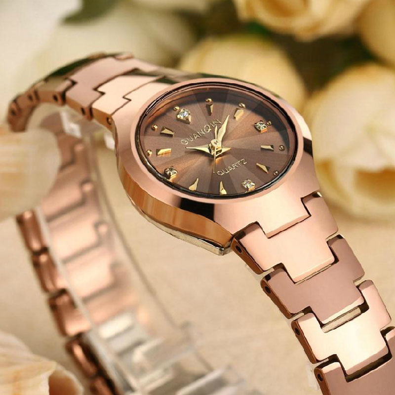 2019 GUANQIN Ladies Fashion Quartz Watch Women Brand Luxury Women Watch Tungsten Steel Waterproof relogio feminino dropshipping