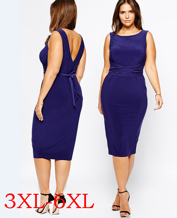 Sexy Women Dresses 6XL Full Figure Summer 5XL Dress Large ...