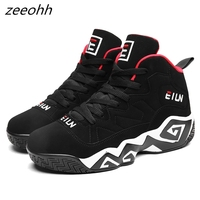 zeeohh New Arrival High Top Cushioning Basketball Shoes Lace Up Shockproof Couple Georgetown Athletic Outdoor Sport Shoes Men's