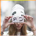 Новый Стиль Большой Глаз Твердые Взрослых Шляпы Gorros Горячие продажа женщин Чаки Стретч Кабель Вязать Сутулятся Шапочки Skully Лыжный шляпа