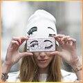 Nuevo Estilo Ojo Grande Sólido Adultos Sombreros Gorros Calientes venta de Las Mujeres Chucky Stretch Cable Knit Slouch Beanie Ski Skully sombrero