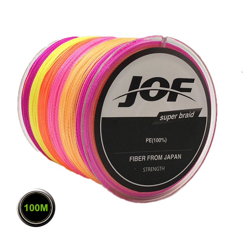 4 가닥 100M 8-100LB PE Multifilament Super Braided Fishing Line 잉어 낚시 (Fish Rope Cord)