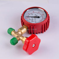 Air Conditioning Refrigeration With A Pressure Gauge With Protective Rubber Sleeve