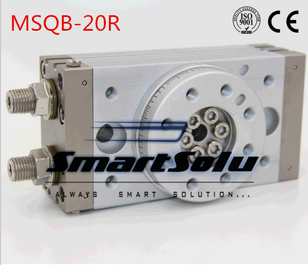 Free Shipping double acting air table rotary actuator pneumatic cylinder  type MSQB-20R with internal shock absorber big quality smc type msqb 30r double acting air table rotary pneumatic cylinder with internal shock absorber