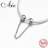 Herz form muster 925 Sterling Silber DIY für mode Sicherheit Kette Perle Fit Original Pandora Charms Armband Schmuck machen-in Perlen aus Schmuck und Accessoires bei