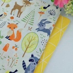 100% tecido de algodão coelho animal diy costura artesanato telas um metro retalhos bebê vestido roupas têxteis para casa colcha tilda tecido