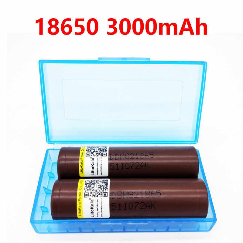 2019 Liitokala Lii-HG2 18650 3000mAh High power discharge rechargeable battery high-discharge, 30A high current