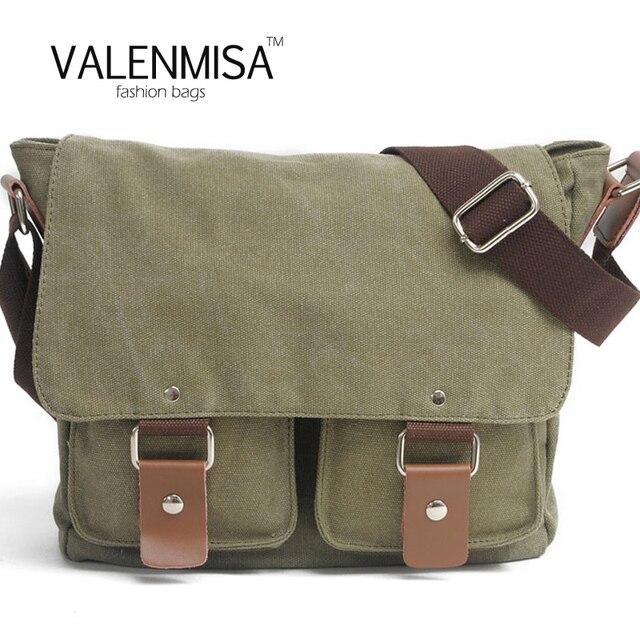 Men S Canvas Crossbody Bag Designer Brand Vintage Ager College School Travel Laptop Bags Military Handbags Shoulder
