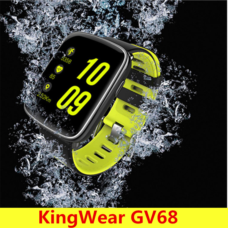 KingWear GV68 Smartwatch IP68 Waterproof Bluetooth 4.0 Heart Rate Monitor Smart Watch Remote Camera Pedometer For Android IOS