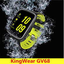 Original KingWear GV68 Smartwatch IP68 Waterproof Bluetooth 4.0 Heart Rate Monitor Remote Camera Pedometer For Android IOS