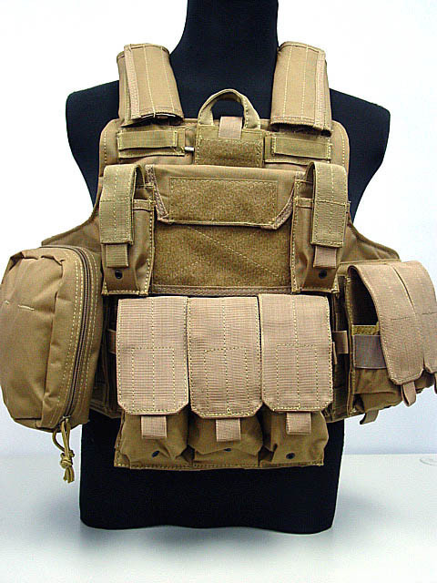 Molle Combat Strike Plate Carrier CIRAS Vest Coyote Brown/BLACK/OD