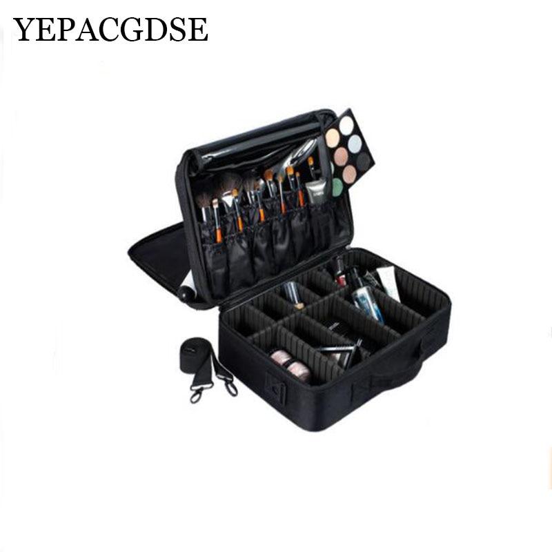 YEPASGDSE Brand Professional Makeup Artist Beauty Cosmetic Bag Semi-permanent Tattoo Nail Multi-layer Tool Cosmetic Case