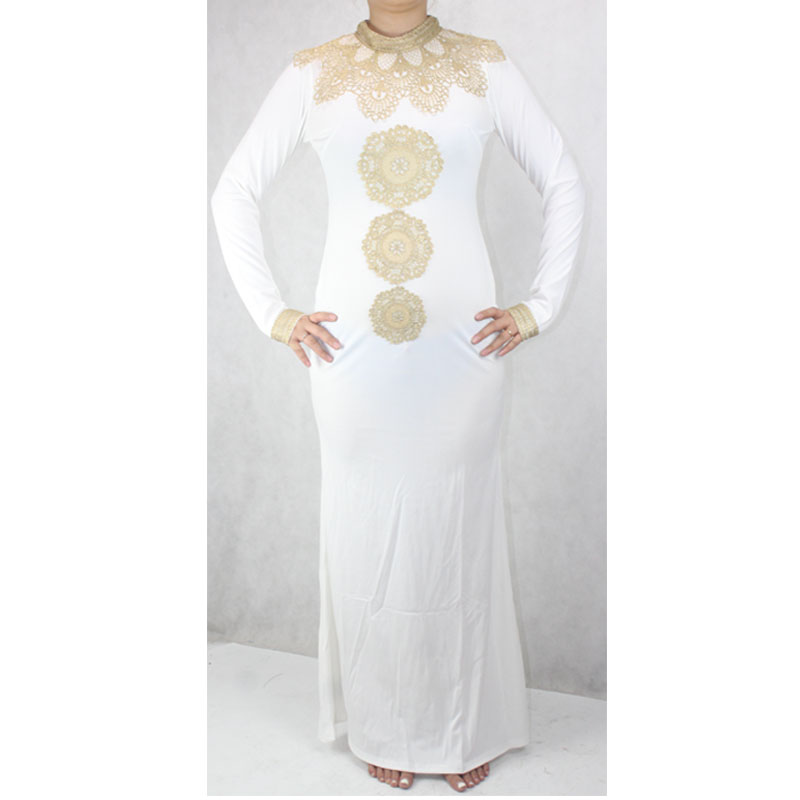 698f82725fef2 US $16.99 |shipping African Fashion Design Hight Collar Embroidery Lady  Traditional Maxi Fabric Dashiki African Dress For Women (GL02#)-in Africa  ...