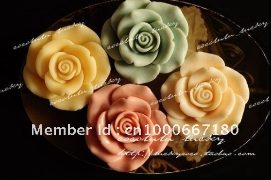 Free Shipping Wholesale 40mm 9Colors Resin Flower Cabochons for Jewelry Decoration 50pcs/lot