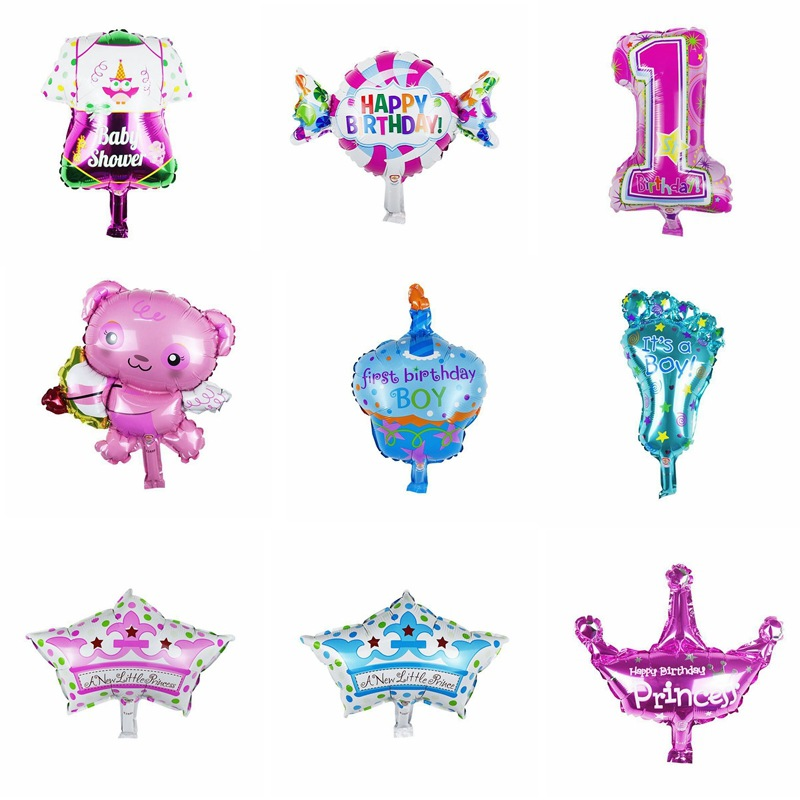 Mini birthay Foil Balloons inflatable air balloons classic toys wedding party su