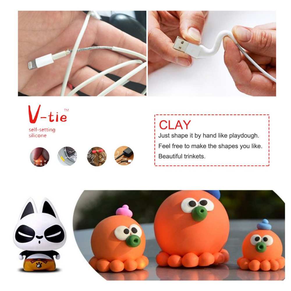 Universal V-tie Moldable Glue Self Adhesive Clay Self Setting Silicone Polymer Dough Clay Repair Rubber Tool DIY Accessories