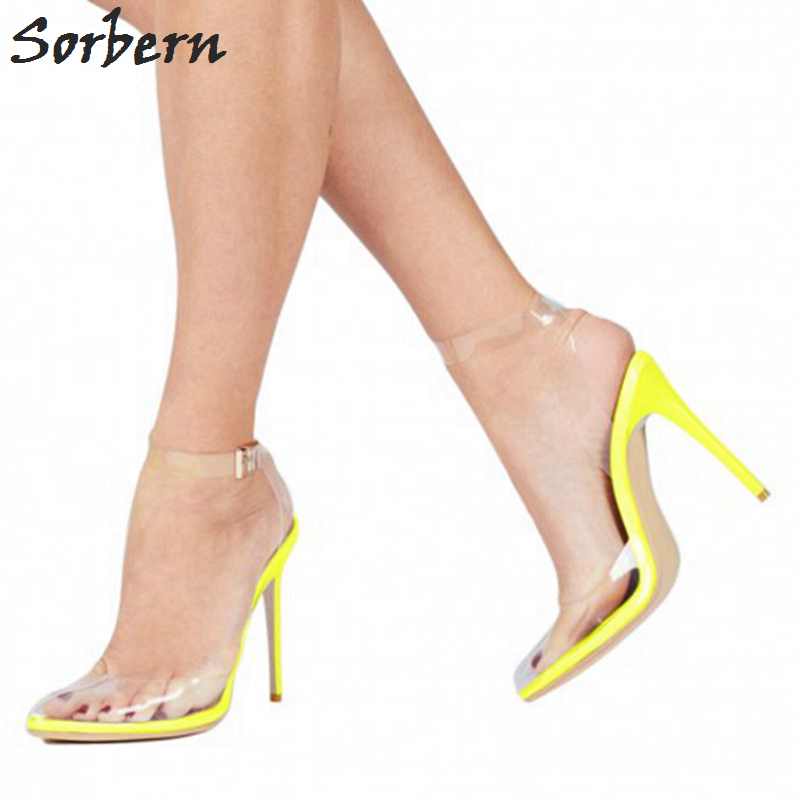 Sorbern PVC Transparan Wanita Sandal multi-warna High Heels - Sepatu Wanita - Foto 6