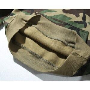 Image 5 - Army Green Camouflage Hoodies 2019 Winter Mens Camo Fleece Pullover Hooded Sweatshirts Hip Hop Swag Cotton Streetwear