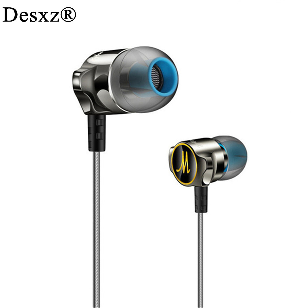Desxz D06 BASS Stereo HD HiFi In-Ear Earphones with Microphone for Mobile Phone Noise Cancelling Earbud DJ Earpiece Mic Earbuds