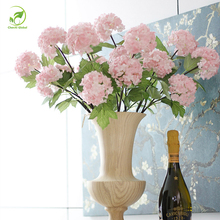 1pcs Artificial Flower 2 Heads Fake Snowball Hydrangea Bouquet Christmas  Wedding Arrangement Home Decoration Art Gifts