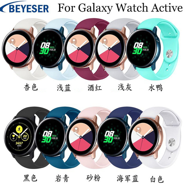 Silicone watchbands For Samsung Galaxy Watch Active/watch 42mm strap for Samsung gear S2 sport classic replacement watchstraps