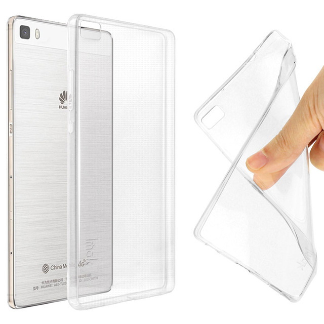 IMAK Ultra Thin Soft TPU Gel Clear Case For Huawei P8 lite/ Huawei ALE-L21 Transparent Case Slim Phone silicone Cover For P8Lite