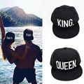 2016 nova Marca new hot sale RAINHA REI basdeball cap chapéus hip hop carta RAINHA Amantes caps snapback chapéu de sol tampas