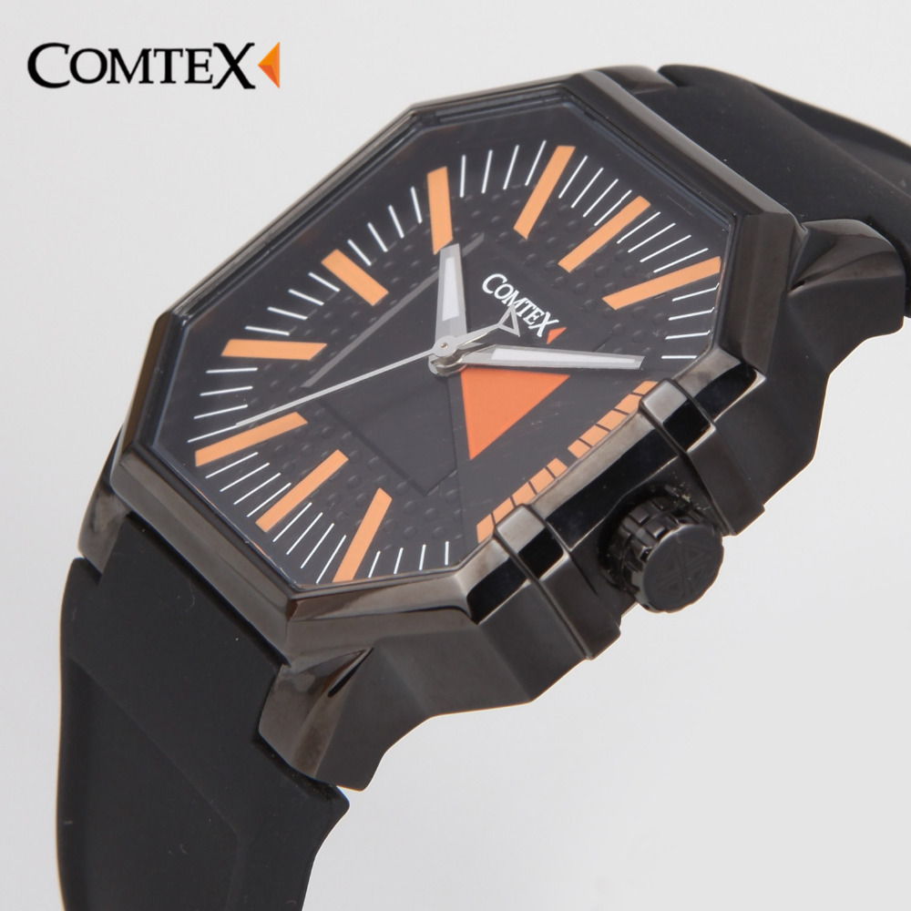ФОТО COMTEX men watches army quartz black Casual Fashion Sport square male wrist watches Luxury Brand Waterproof character watch gift