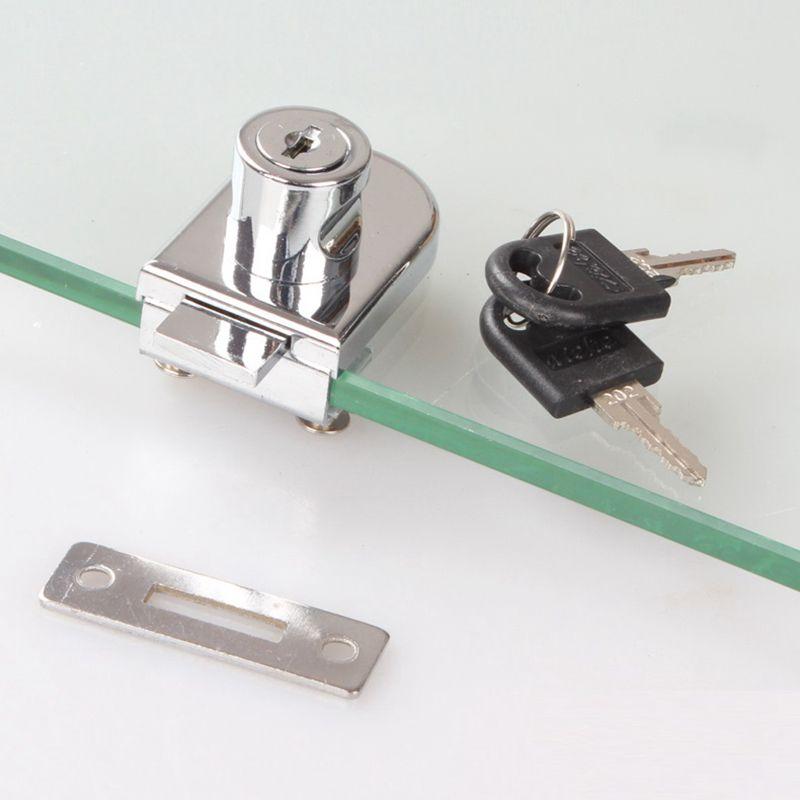 New Glass Cabinet Lock Showcase Single Door Lock Glass