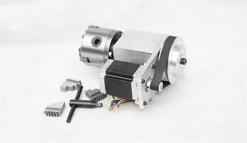 цена на K12 4 Jaw Chuck CNC Rotary Axis 80mm 4th A axis Ratio 6:1 for CNC Rotary Axis New 1 Year Warranty