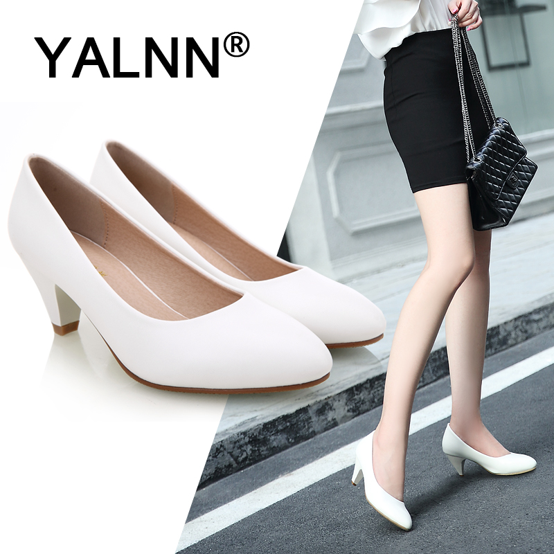 YALNN 2019 Sexy Woman Wedding High Heels Women Pumps Office Lady Pointed Toe Sapato Feminino Thin High Party Shoes in Women 39 s Pumps from Shoes