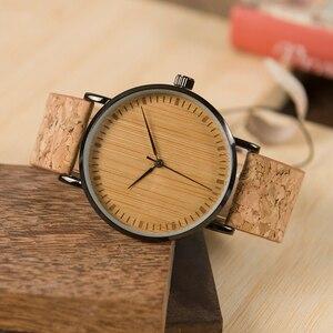 Image 2 - BOBO BIRD LE19 ไม้ไผ่ Dial แฟชั่นนาฬิกาไม้ Mujer ควอตซ์นาฬิกาหนังสแตนเลสนาฬิกาสำหรับสุภาพสตรี