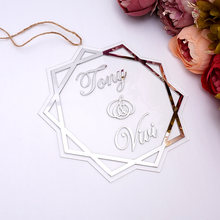 Custom Acrylic Mirror Sign Personalized Transperant Wedding Mirrored Bride Groom Names Board Frame For Party Decor Guest Gifts(China)