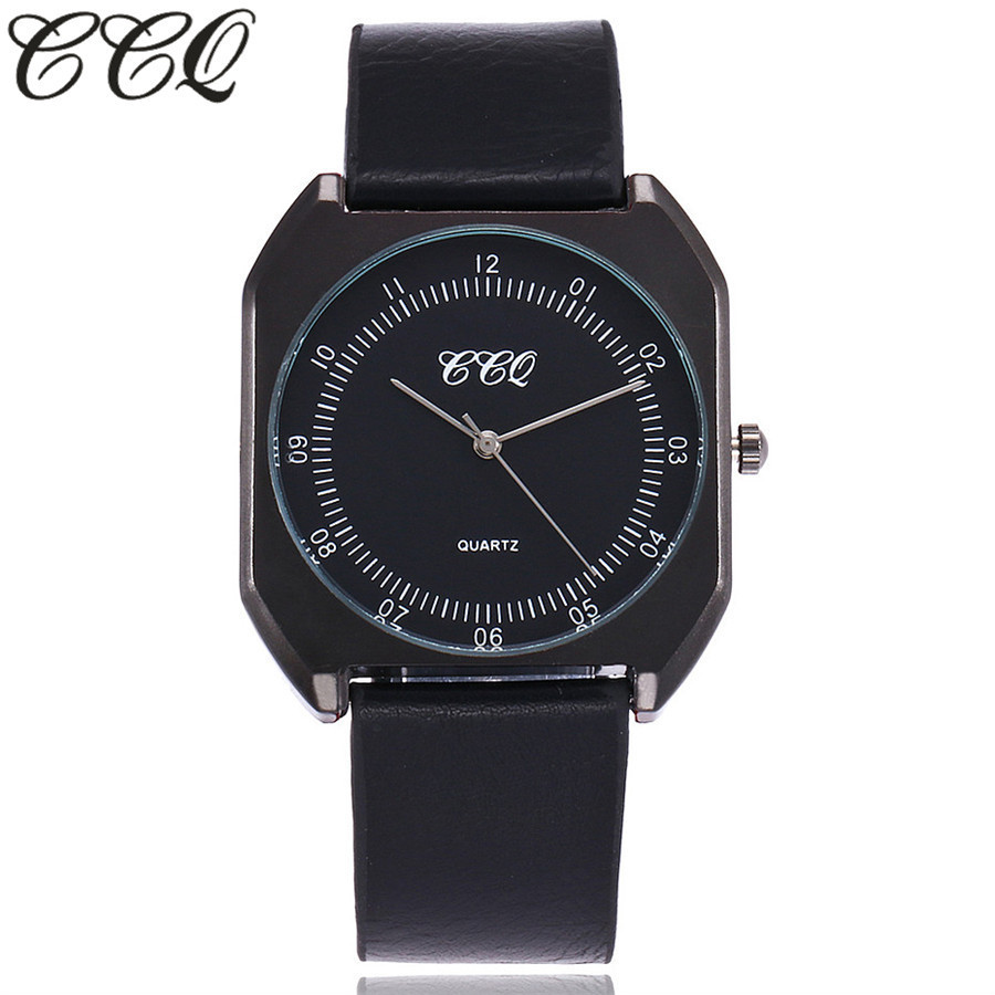 CCQ Brand New Fashion Luxury Elegant Woman Watches Simple Ultra Thin Dial Casual Male Quartz Clock Man Watch Wristwatch Gift