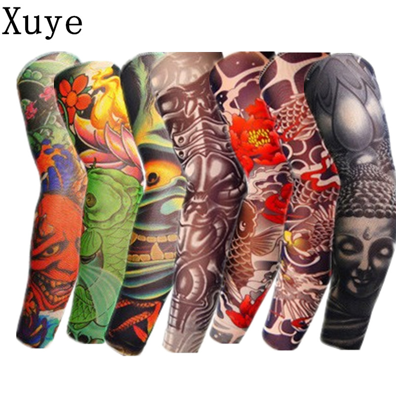 Xuye summer cool simulation tattoo sunscreen uvproof arm for Best sunblock for tattoos