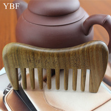 Wide Tooth Combs Of Green Sandalwood Antique Pinceis Wooden Cepillos Del Pelo Tangle Angel Hairbrush Hairdresser Kitty Brushes