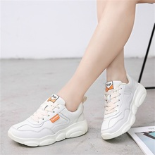 Explosion models bear shoes spring and autumn new small white with sports low to help couple wild old