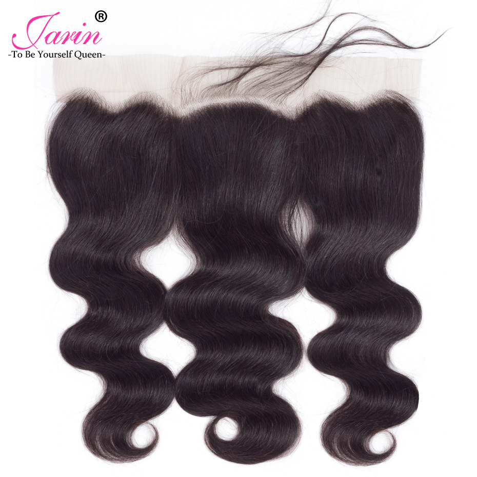Jarin 100% Burmese Human Hair Body Wave 13x4 Lace Frontal Closure Pre Plucked Ear To Ear Closure Natural Color Free Shipping