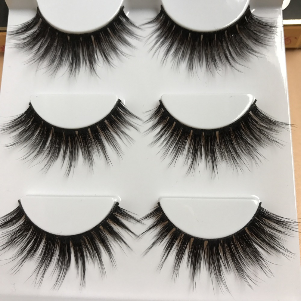 Hbzgtlad sexy 100 handmade 3d mink hair beauty thick long for Craft eyes with lashes