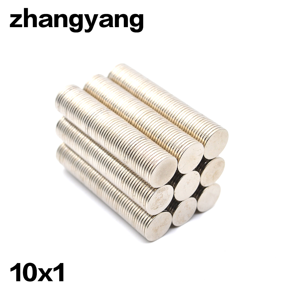 ZHANGYANG 50Pieces/Pack 10 mm x 1mm Magnetic Materials Neodymium Magnet Mini Small Round Disc Magnet Home Decorations Fridge 100 piece 10mm x 1mm neodymium magnet mini small disc magnetic material ndfeb magnet magnet magnetic strong magnetic