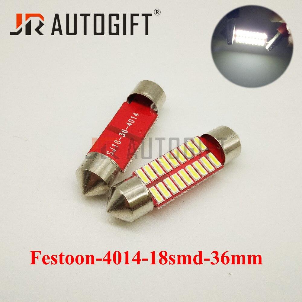 10 шт. яркие 36/39 мм 18 SMD 4014 футов 3014 18 светодиодов 12/24 В Автомобильная Внутренняя купольная гирлянда светодиодный светильник лампы автомобильн...