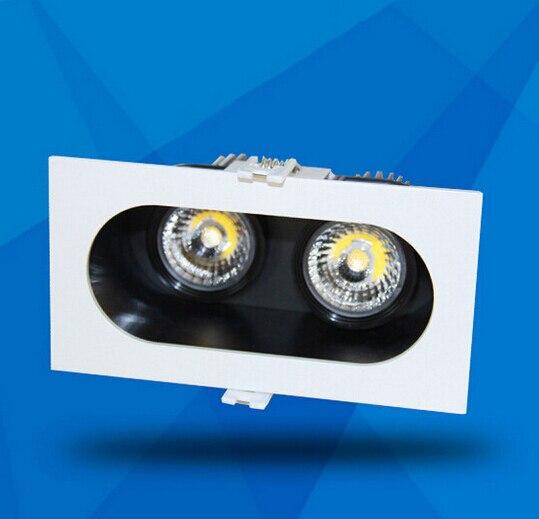 Livraison gratuite 4 pièces x Dimmable 20 W Double COB LED encastré vers le bas lumière blanc chaud blanc froid LED plafonnier AC85-265V