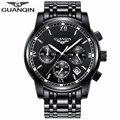 Brand GUANQIN Watch Men 2017 Sapphire Anti-Scratch Quartz Watch Luminous Men Clock Fashion Mens Wristwatches relogio masculino