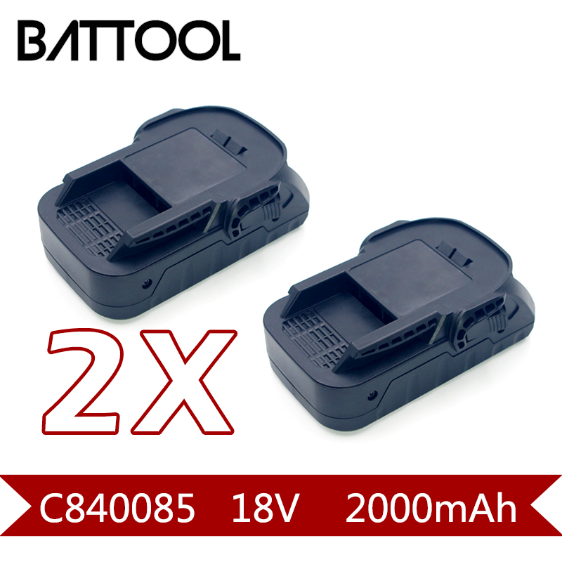 2X 2000mAh 18V Rechargeable Li-ion Battery For Ridgid R840083 R840085 R840086 R840087 L1815R BFL18 r840083 tool accessory electric drill li ion battery 18v 3000mah for aeg ridgid 18v 3 0ah power tool parts