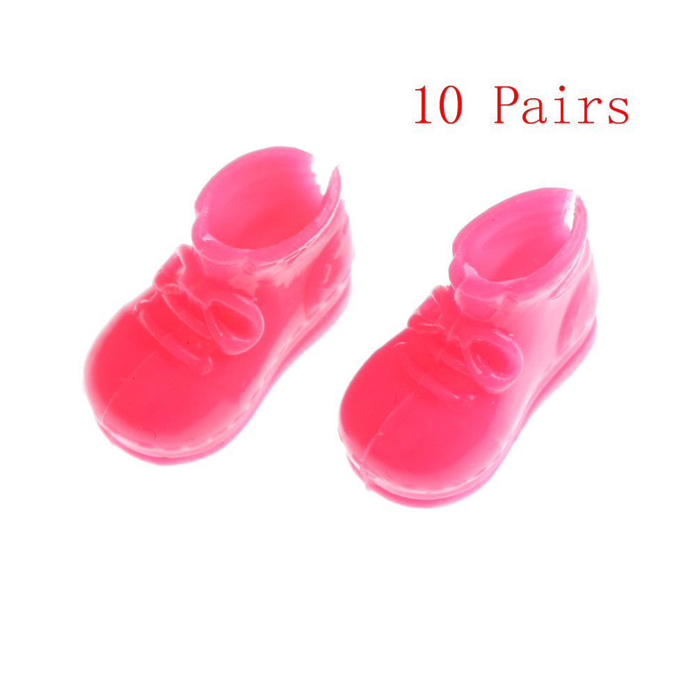 10Pairs Fashion Doll Bow Shoes  For  Doll  Dolls Accessories Toys Great Christmas Gift Girls Wholesale