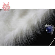 High grade 9cm Long fur fabric white plush faux fur for winter coat cosplay costume faux fur tissue 150*50cm 1 pc SP724(China)