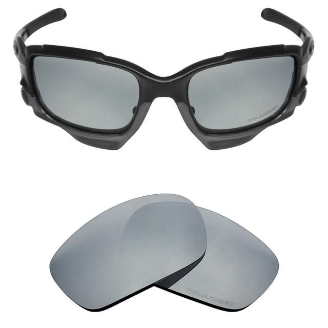 9fbb85e0a9d7c Mryok + POLARIZADA Lentes de Reposição para óculos Oakley Jawbone Óculos De  Sol De Prata Titânio