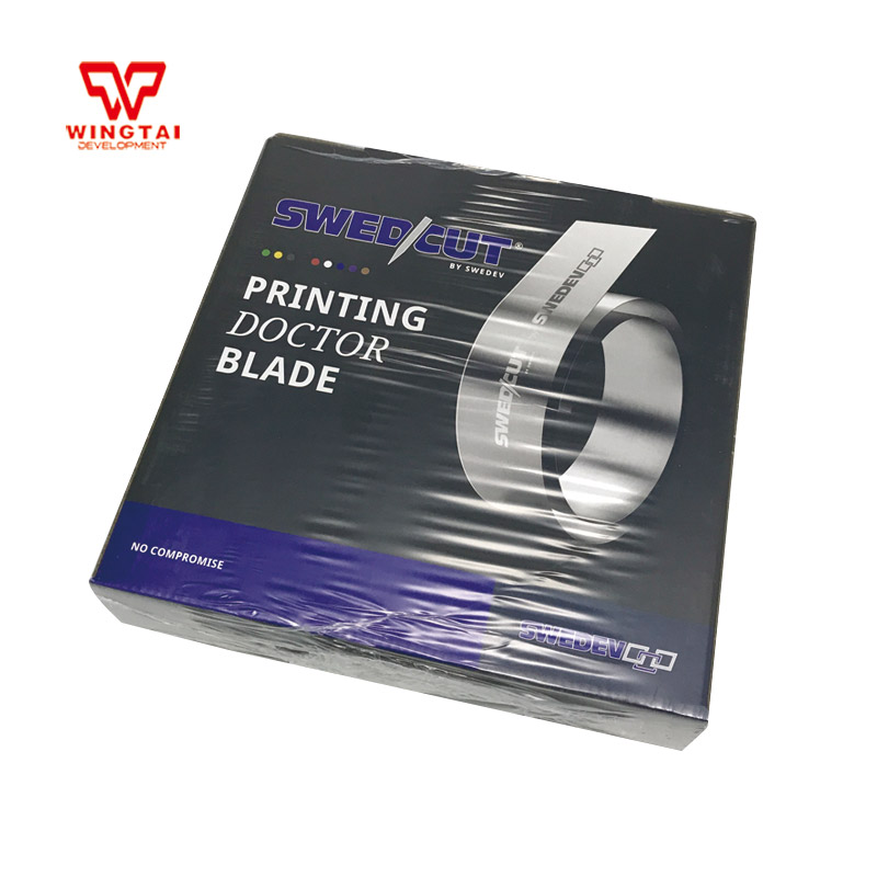 W10*T0.15mm*L100m Swedcut M-Flex I Carbon Steel doctor blades for pad printing 100% original mdc sinolb gravure printing doctor blade w50mm t0 15mm l100m